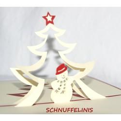 Christmas card - Snowman,...