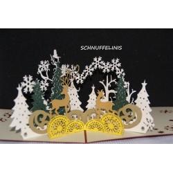 Weihnachtskarte Waldtiere...