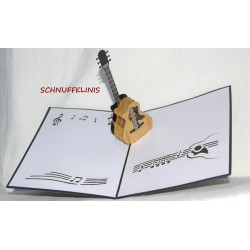 Guitar - Popup card 3D