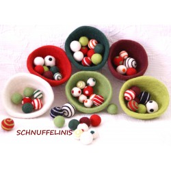 Felt bowls Christmas Set of 6