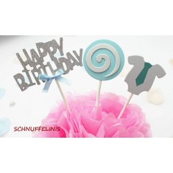 Cake topper Happy Birthday...