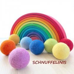 Felt balls rainbow set