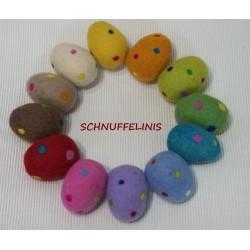 Felt eggs XXL dots 31 gras...
