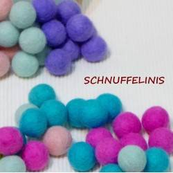 Filzkugeln Knallige Farben