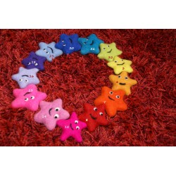 Felt sea star, Mobile or cat toy