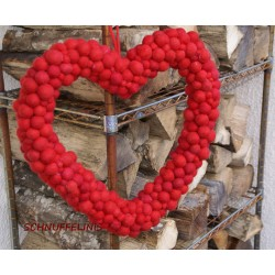 Felt balls door hanging Heart