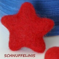 Felt stars - 08 red
