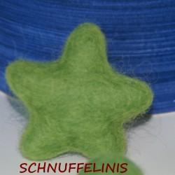 Felt stars - 31 gras green