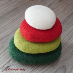 felt pebbels set Christmas