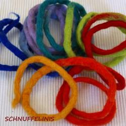 Filzschnur dick Regenbogen