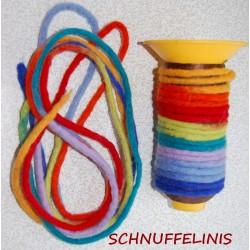 felt cord Rainbow thine