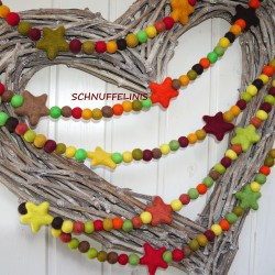 felt autumn garland DIY