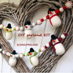 DIY Snowmen felt Christmas...