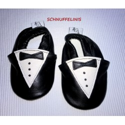 Infant Tux shoe leather