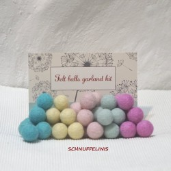 felt balls garland DIY soft...