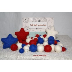 felt balls garland KIT USA DIY