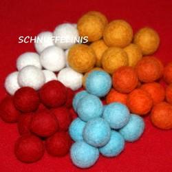 Felt balls Christmas Set6