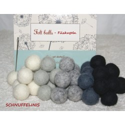 felt balls garland DIY Earl