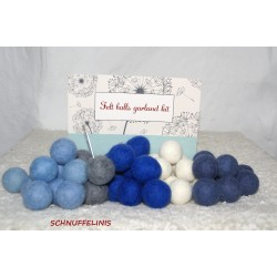 felt balls garland KIT boys...