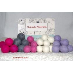 felt balls garland DIY girls