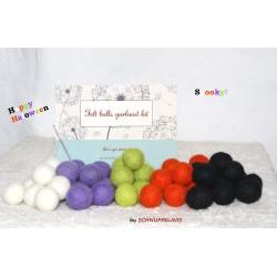 felt balls garland DIY...