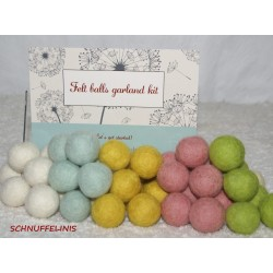 felt balls garland light...