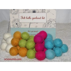 felt balls garland DIY candy
