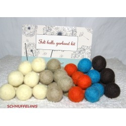 felt balls garland DIY toy...