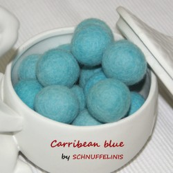 Felt Balls 24 carribean blue