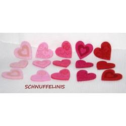 Filzkranz Herz rot in XXL