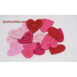 Felt hearts confetti