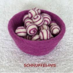 Felt balls swirl 17 lavender