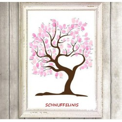 Fingerprints Hochzeitsbaum