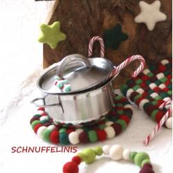 Filzuntersetzer Weihnachten