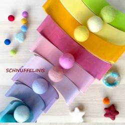 Felt balls faerie set pastel