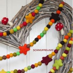 Autumn felt balls DIY set