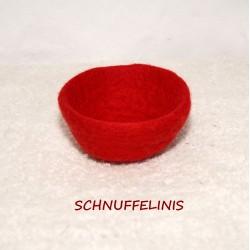 Filzschalen deine Farbe 08 rot