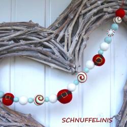 Christmas garland Santa