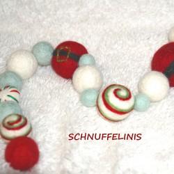 DIY garland Santa