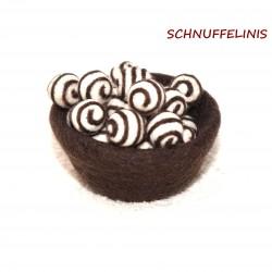 Felt balls swirl 42 cocoa...