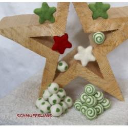 Felt balls swirl 31 gras green