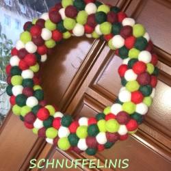 Christmas door hanging wreath