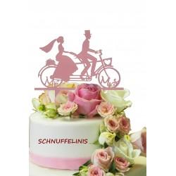 Cake topper Tandem rose