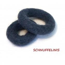 felt rings in 2 sizes...