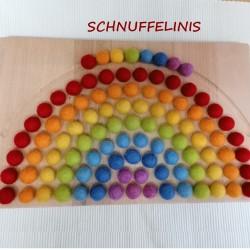 Rainbow board felt balls...