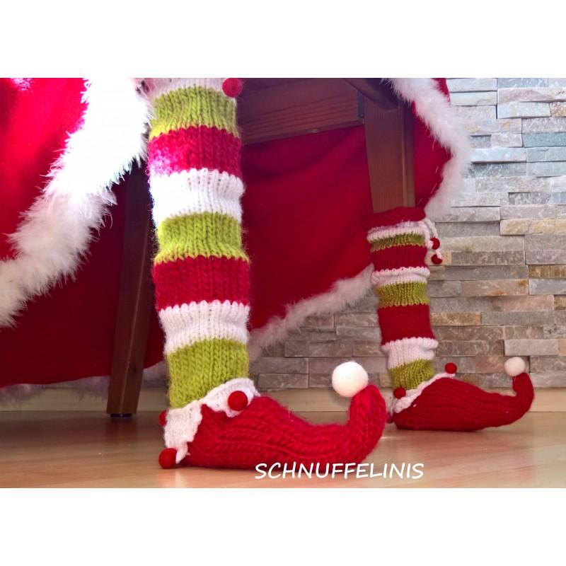 Weihnachtsdeko Stuhl.Stickanleitung Ebook Elf Socken Weihnachtsdeko Diy
