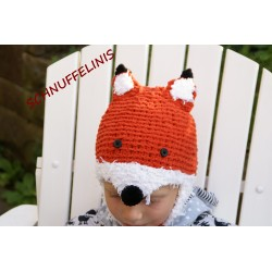 Fox hat DIY knitting pattern