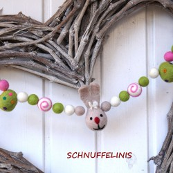 Garland Easter Bunny white...