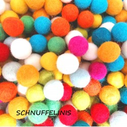 felt balls 80pc. Bright mix