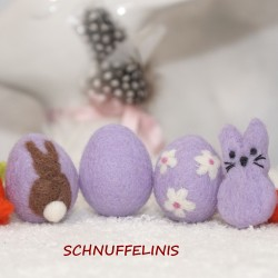 Felt Eggs flowers and bunny...